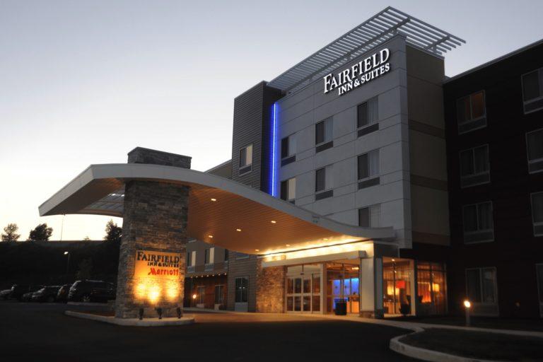 Fairfield Inn Entrance at Night